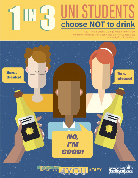 1 in 3 UNI students choose NOT to drink