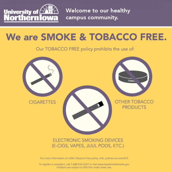 UNI Is Smoke and Tobacco Free