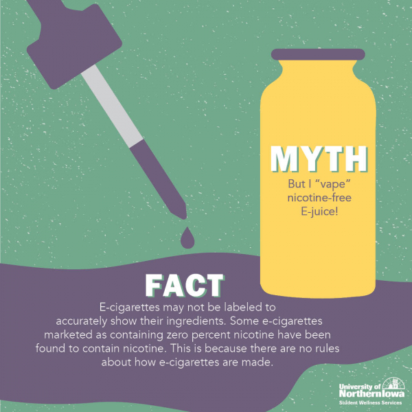 Myths Surrounding Nicotine Free E-Juice